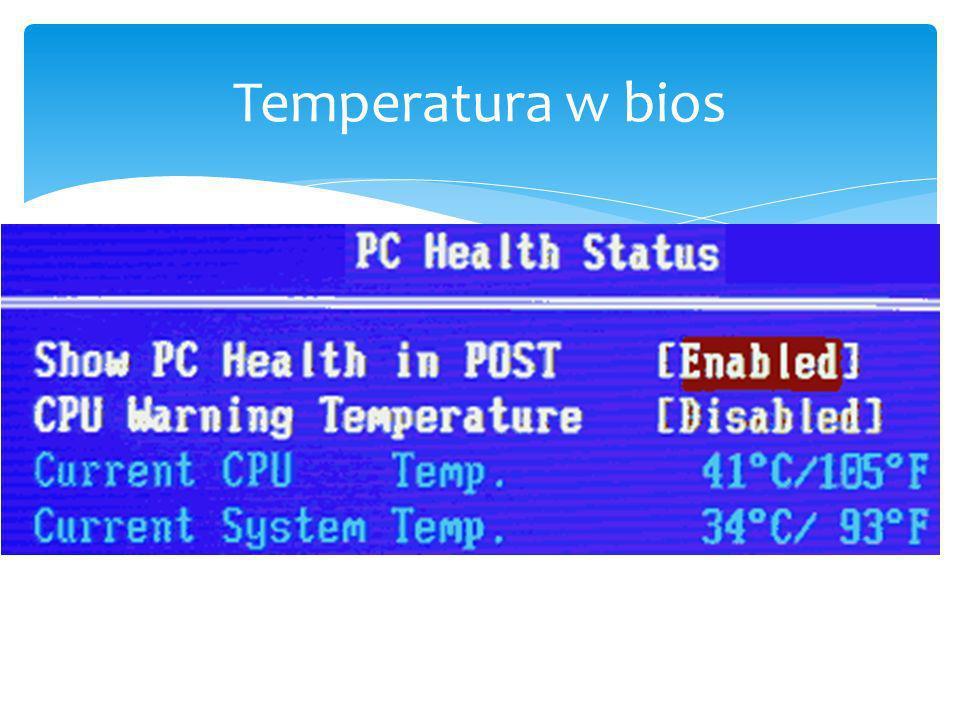 Temperatura w bios