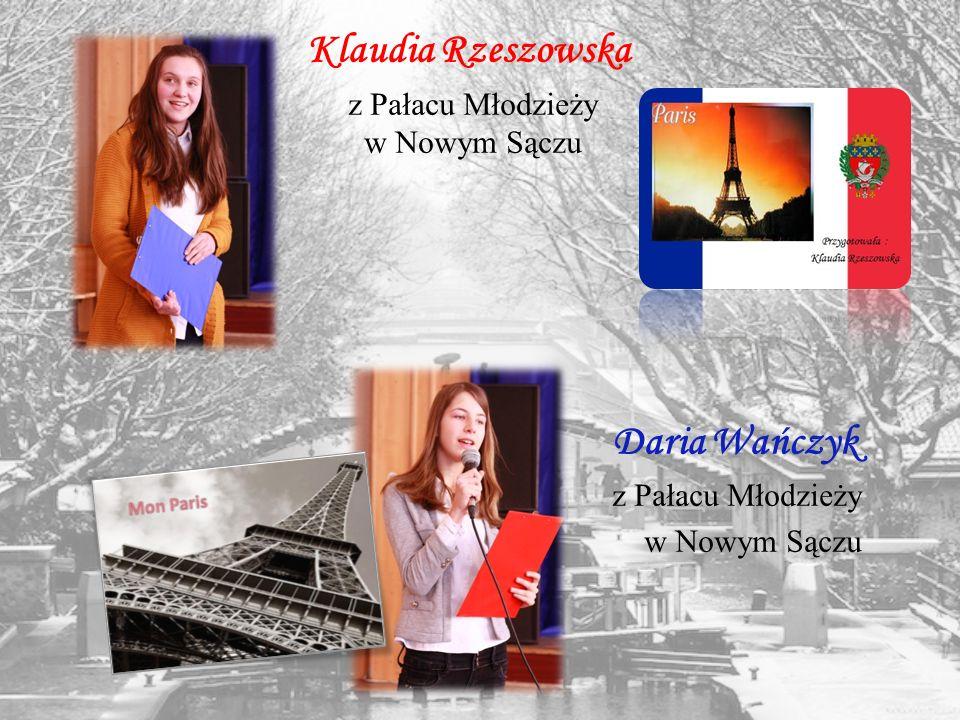Klaudia Rzeszowska Daria Wańczyk z Pałacu Młodzieży w Nowym Sączu