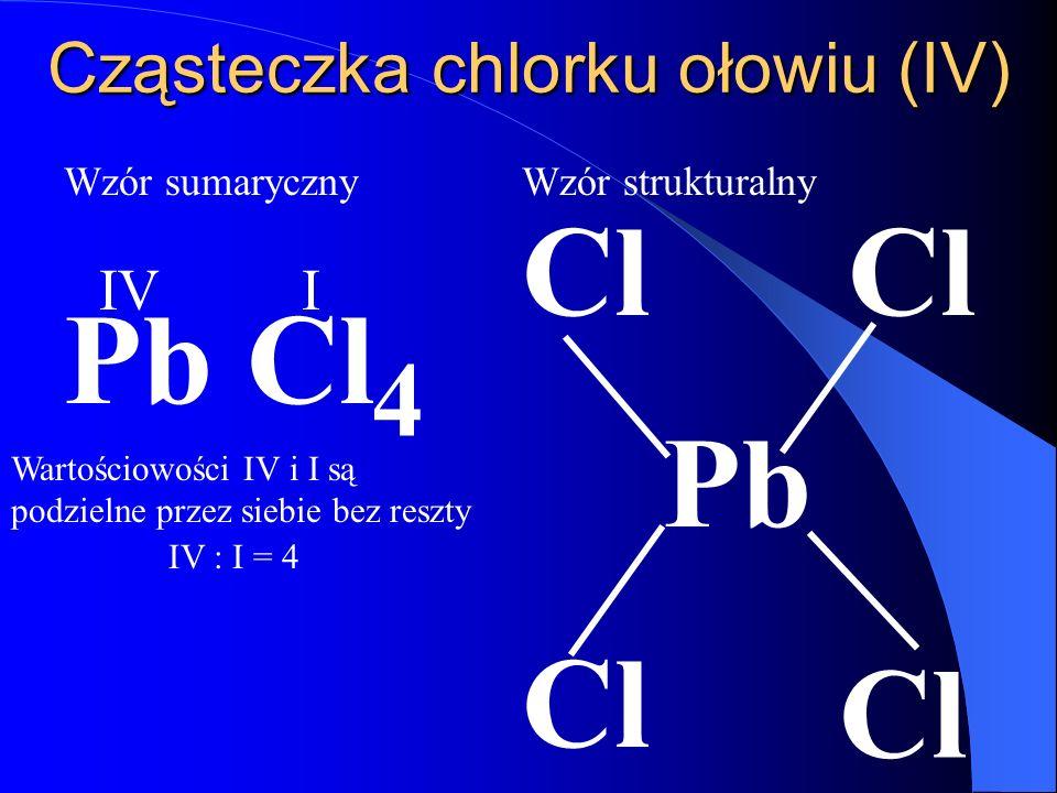 Cząsteczka chlorku ołowiu (IV)
