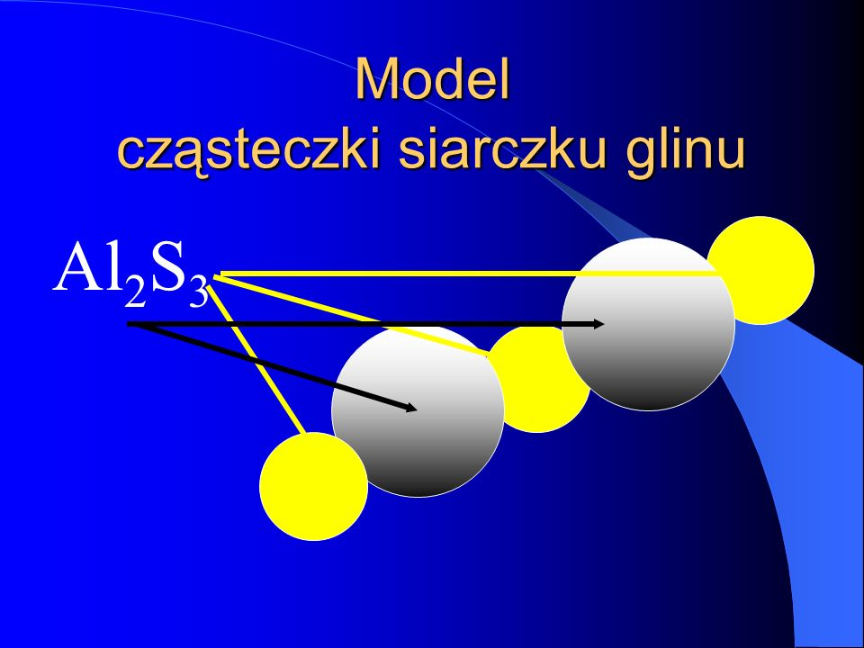 Model cząsteczki siarczku glinu