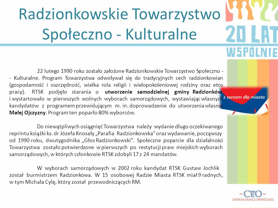 Radzionkowskie Towarzystwo Społeczno - Kulturalne