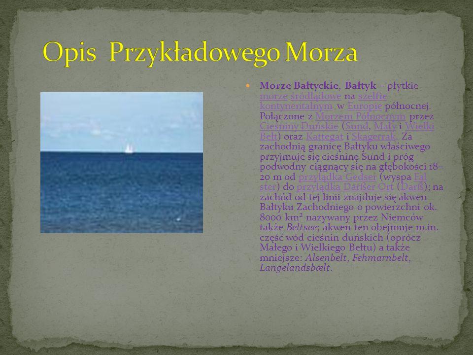 Opis Przykładowego Morza