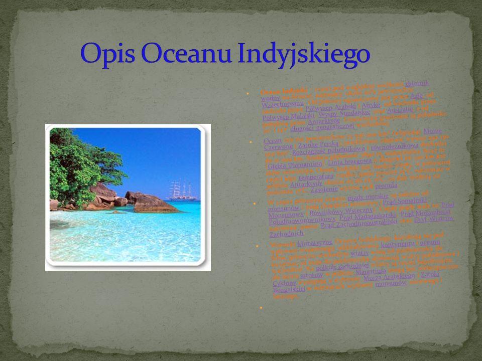 Opis Oceanu Indyjskiego