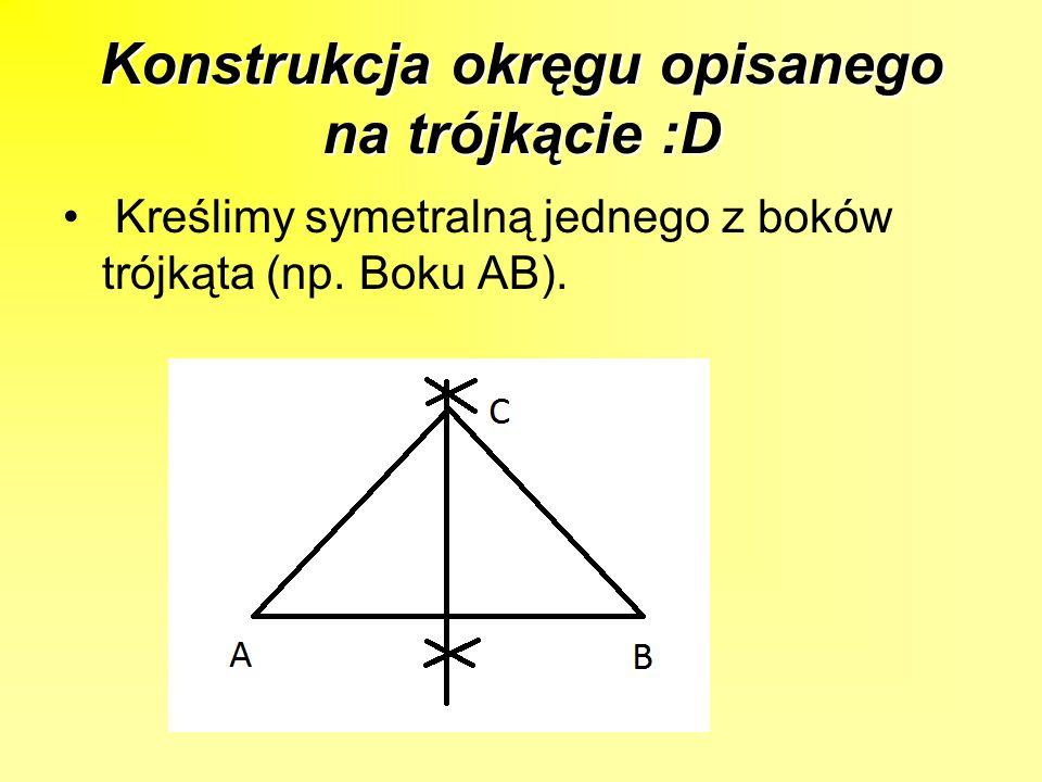 Konstrukcja okręgu opisanego na trójkącie :D