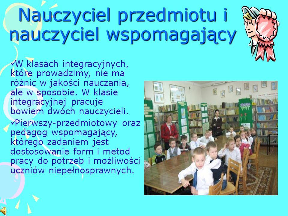 Nauczyciel przedmiotu i nauczyciel wspomagający