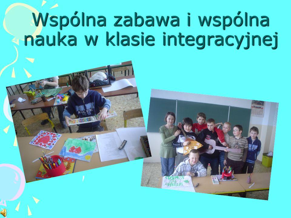 Wspólna zabawa i wspólna nauka w klasie integracyjnej