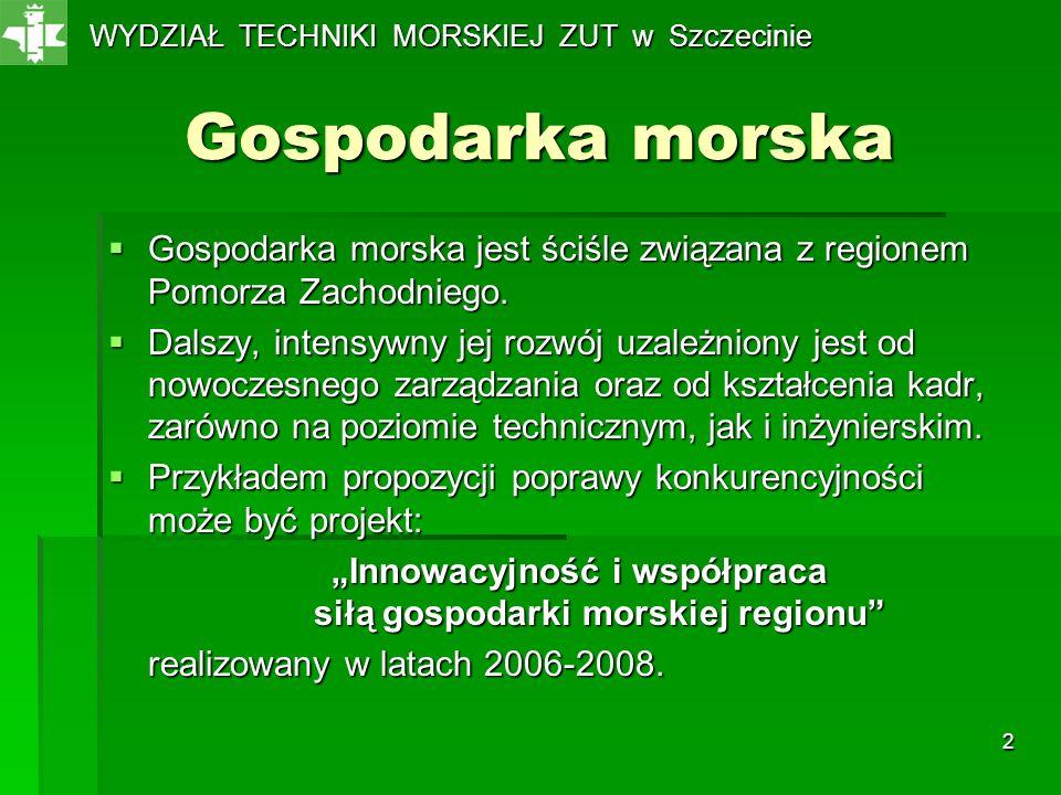 WYDZIAŁ TECHNIKI MORSKIEJ ZUT w Szczecinie