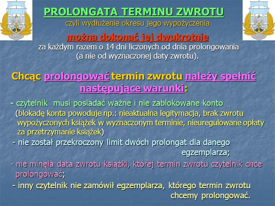 PROLONGATA TERMINU ZWROTU