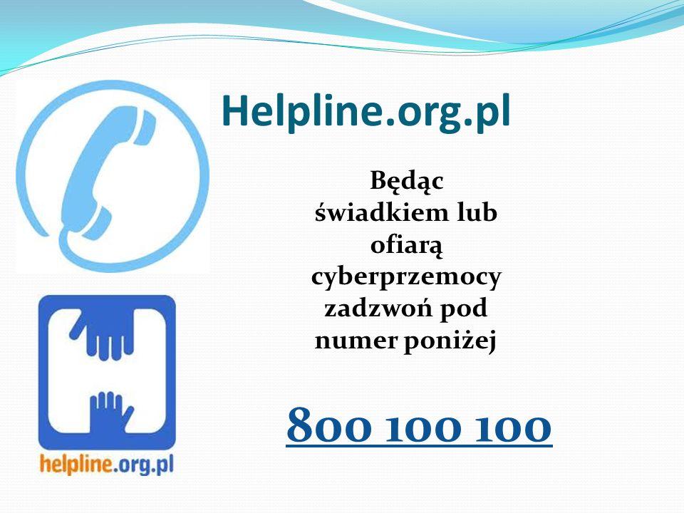 Będąc świadkiem lub ofiarą cyberprzemocy zadzwoń pod numer poniżej