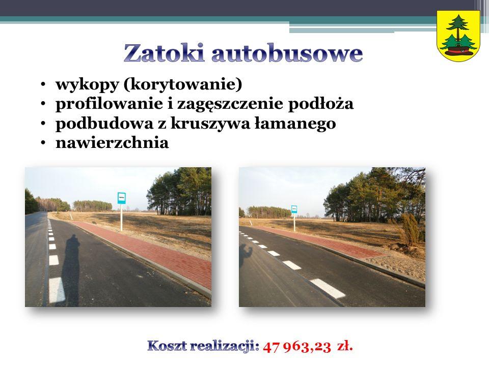 Zatoki autobusowe wykopy (korytowanie)