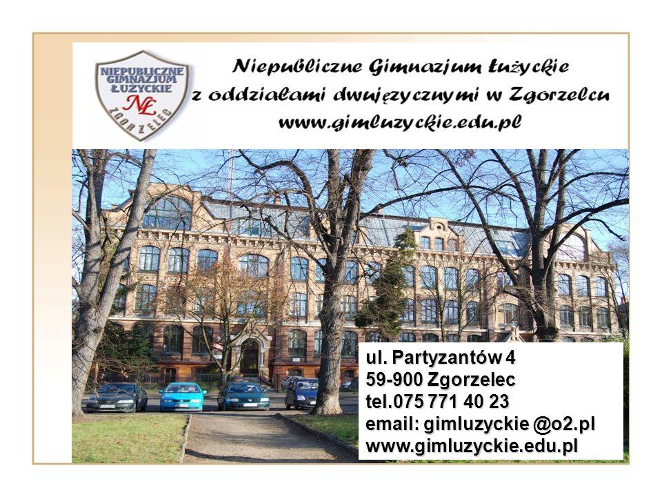 ul. Partyzantów 4 59-900 Zgorzelec. tel.075 771 40 23.