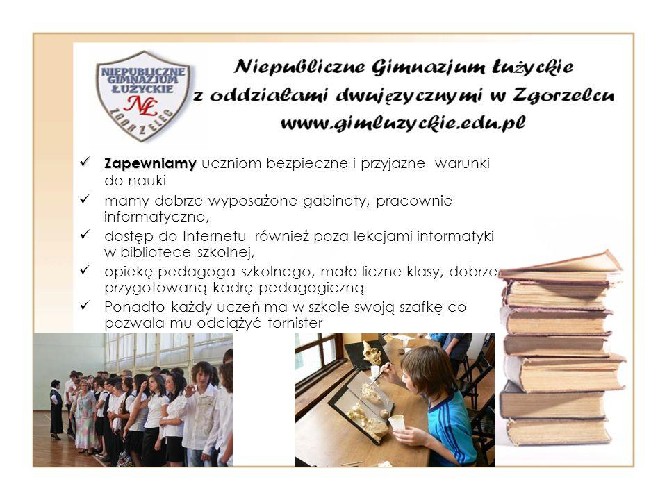 Zapewniamy uczniom bezpieczne i przyjazne warunki do nauki