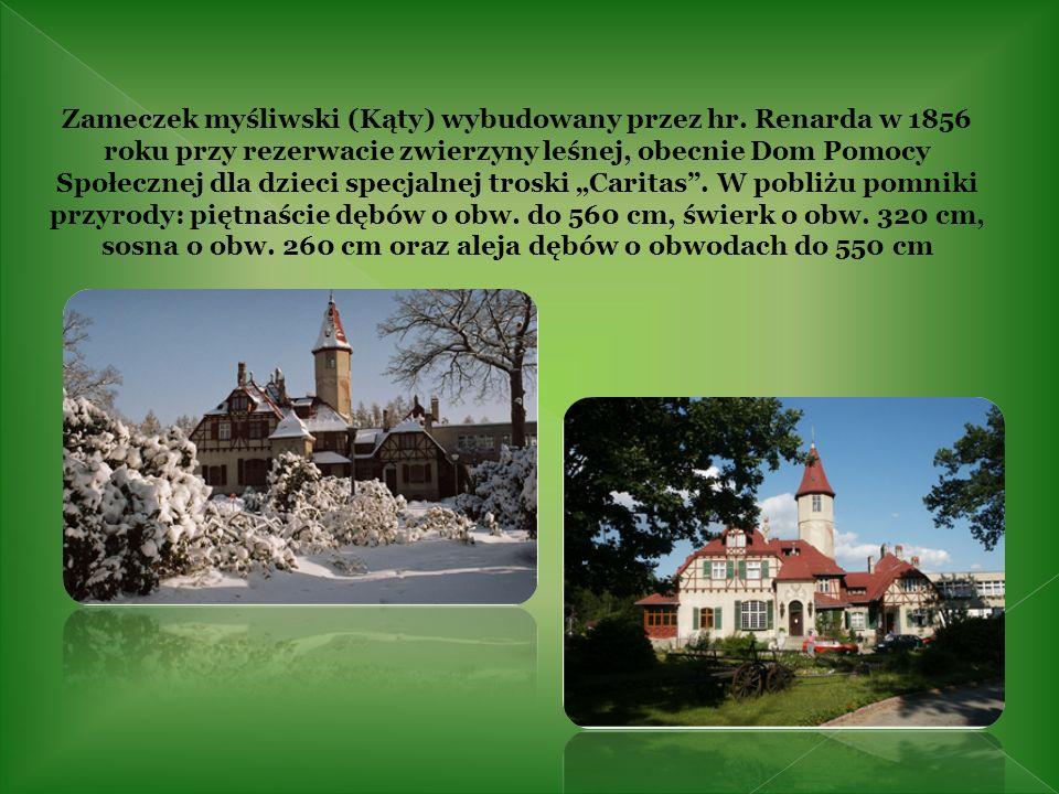 Zameczek myśliwski (Kąty) wybudowany przez hr