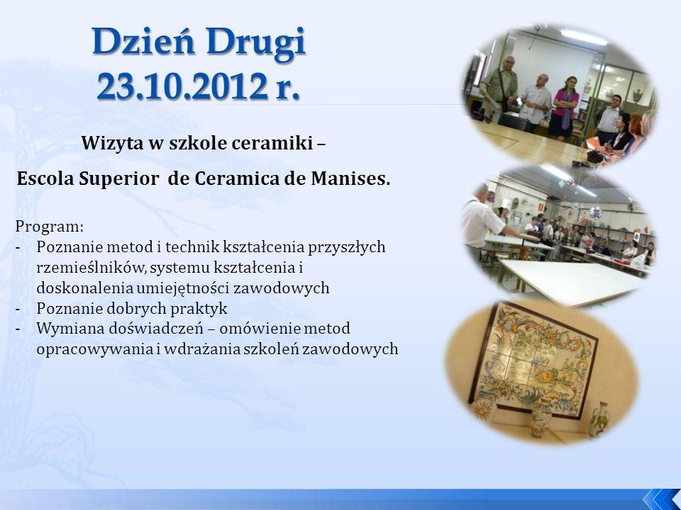 Wizyta w szkole ceramiki – Escola Superior de Ceramica de Manises.