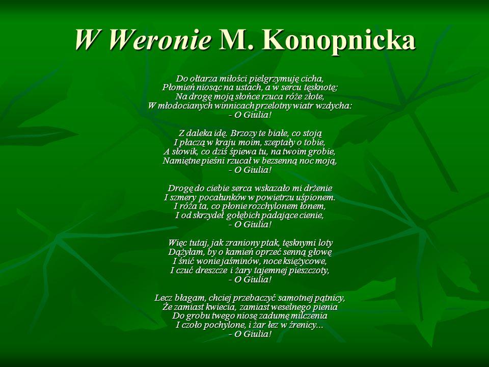 W Weronie M. Konopnicka