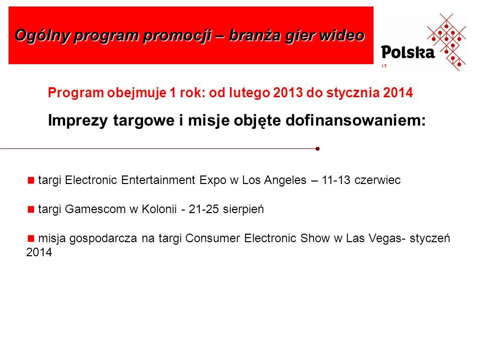 Ogólny program promocji – branża gier wideo