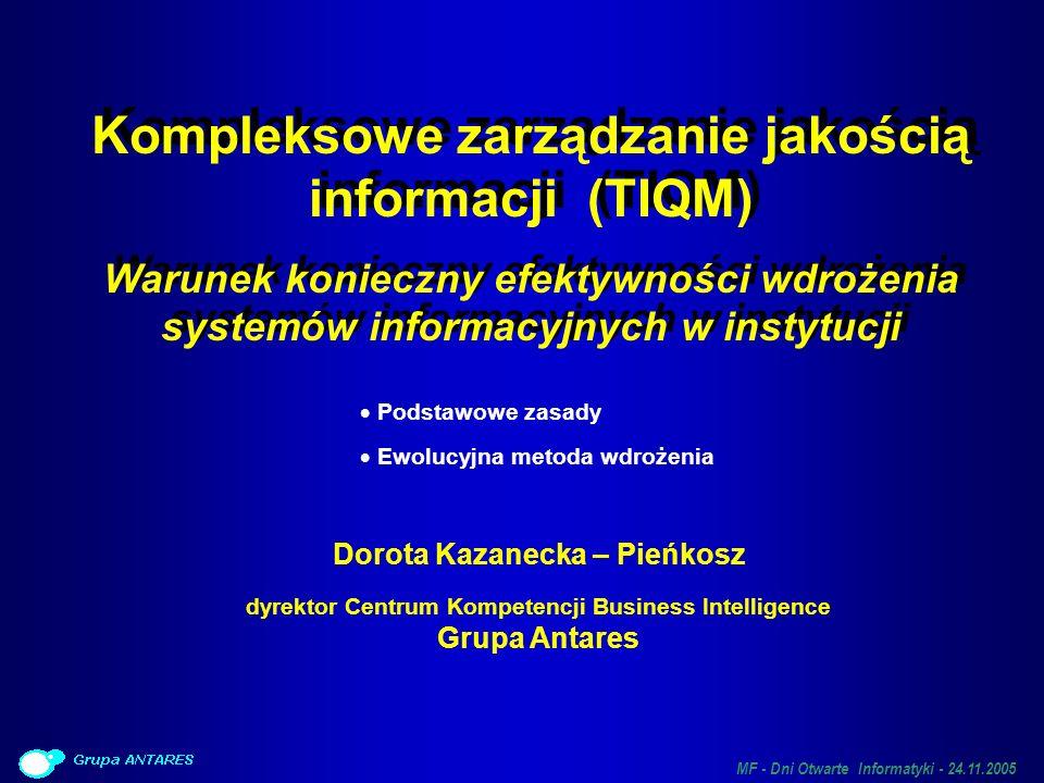 Kompleksowe zarządzanie jakością informacji (TIQM)