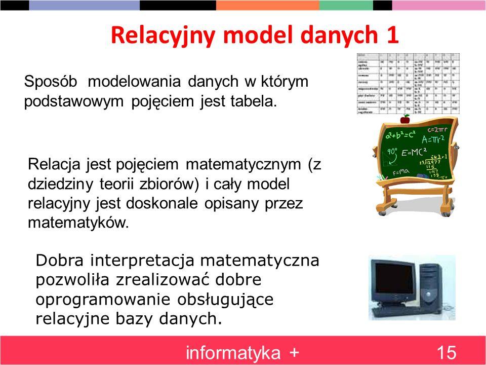 Relacyjny model danych 1