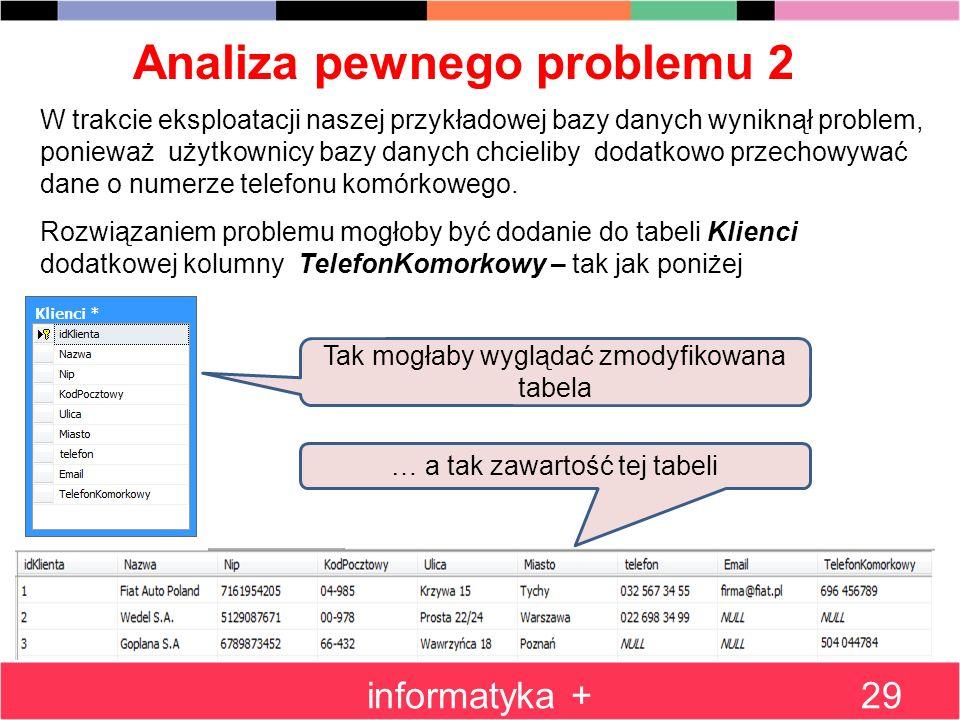 Analiza pewnego problemu 2