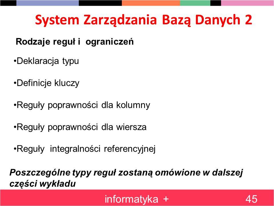 System Zarządzania Bazą Danych 2