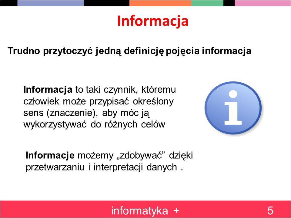Informacja informatyka +