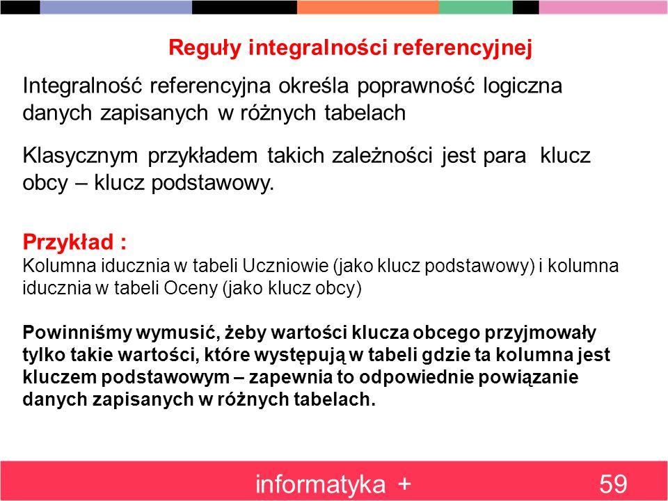 Reguły integralności referencyjnej