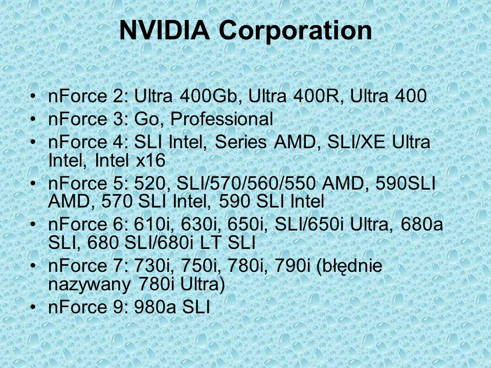 NVIDIA Corporation nForce 2: Ultra 400Gb, Ultra 400R, Ultra 400