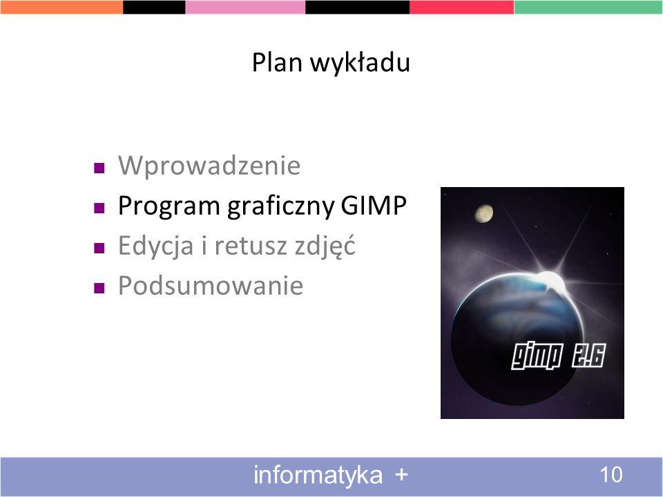 Program graficzny GIMP Edycja i retusz zdjęć Podsumowanie