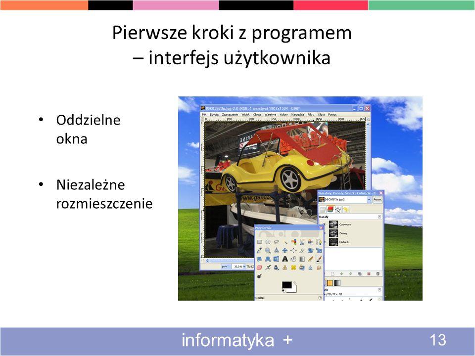 Pierwsze kroki z programem – interfejs użytkownika