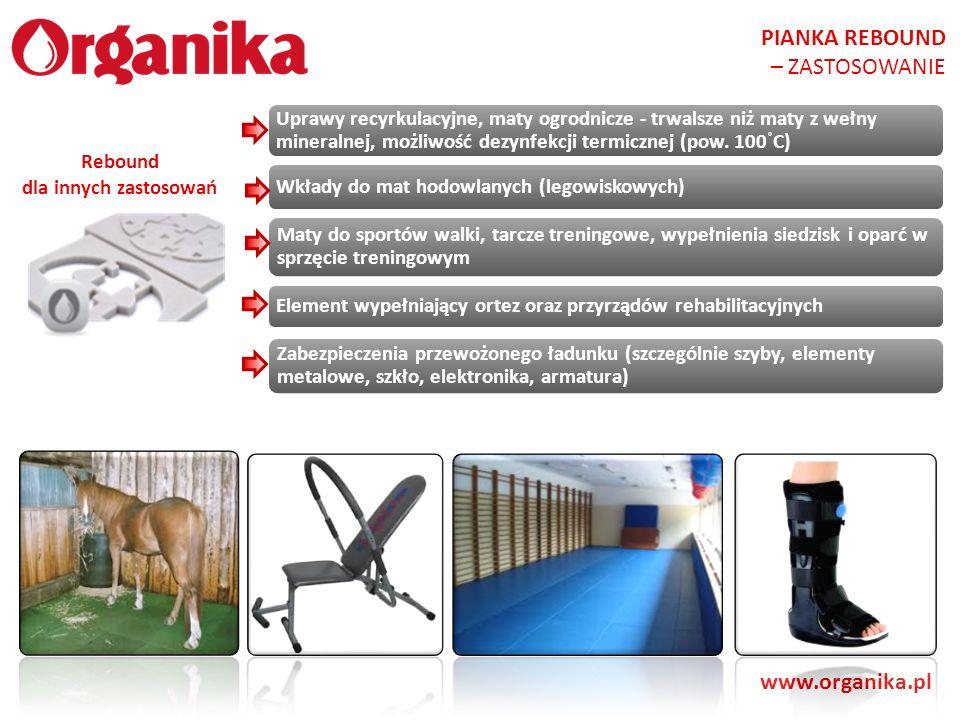 PIANKA REBOUND – ZASTOSOWANIE www.organika.pl