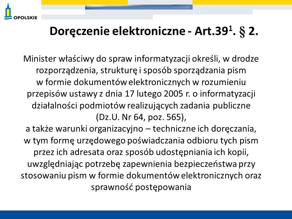 Doręczenie elektroniczne - Art.391. § 2.