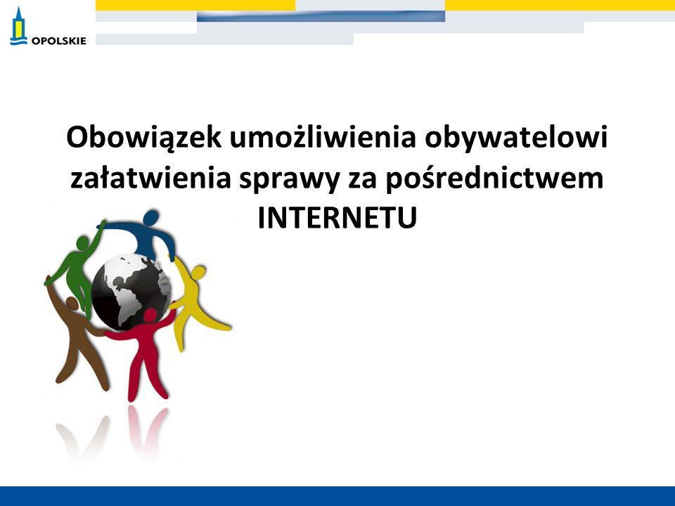 Obowiązek umożliwienia obywatelowi załatwienia sprawy za pośrednictwem INTERNETU