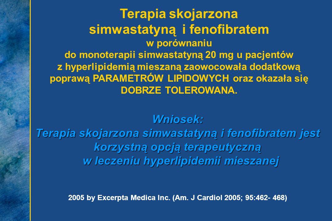 Terapia skojarzona simwastatyną i fenofibratem
