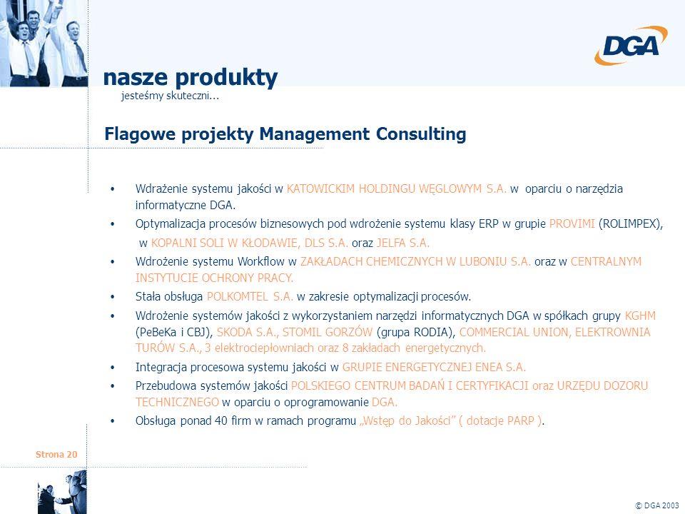 nasze produkty Flagowe projekty Management Consulting