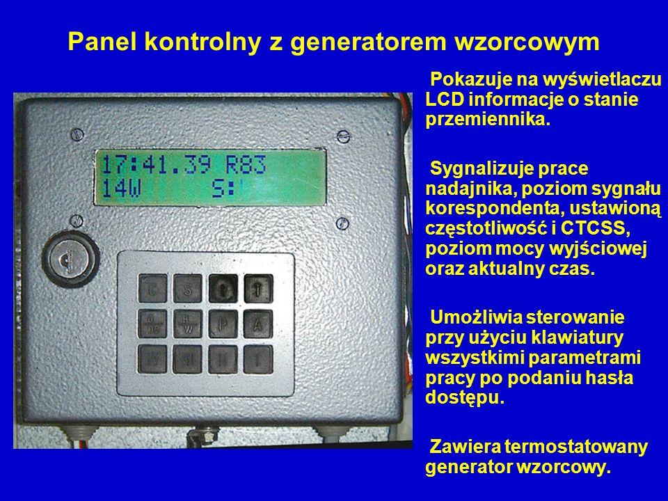 Panel kontrolny z generatorem wzorcowym