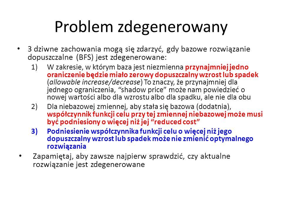 Problem zdegenerowany