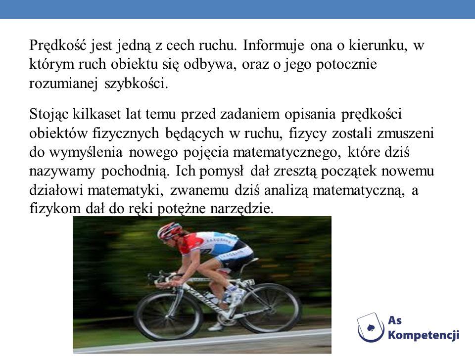 Prędkość jest jedną z cech ruchu