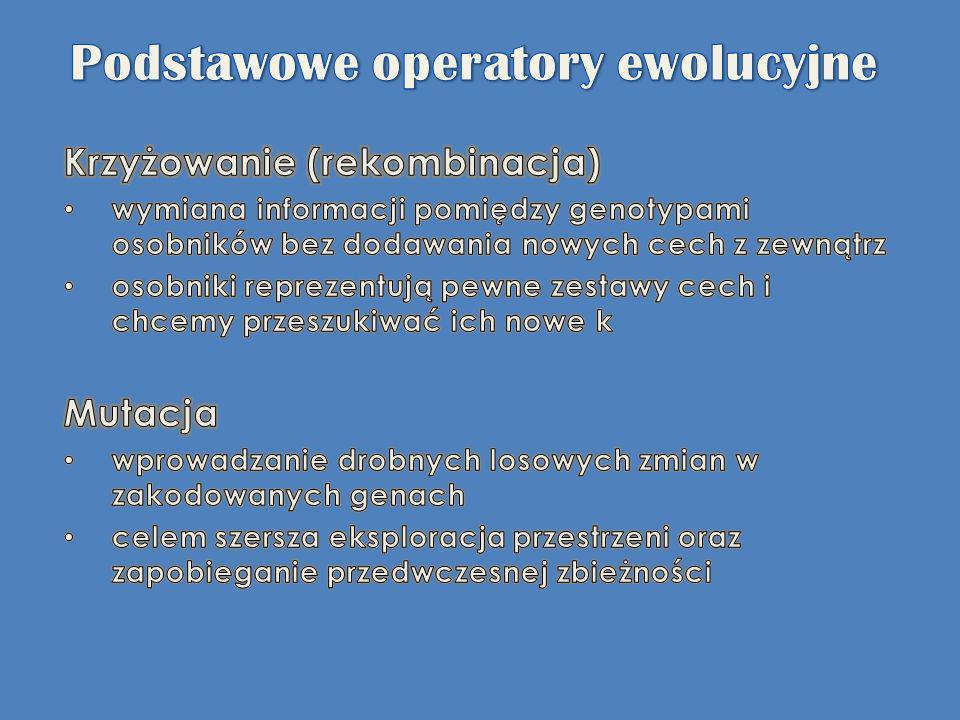 Podstawowe operatory ewolucyjne