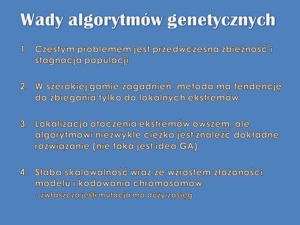 Wady algorytmów genetycznych