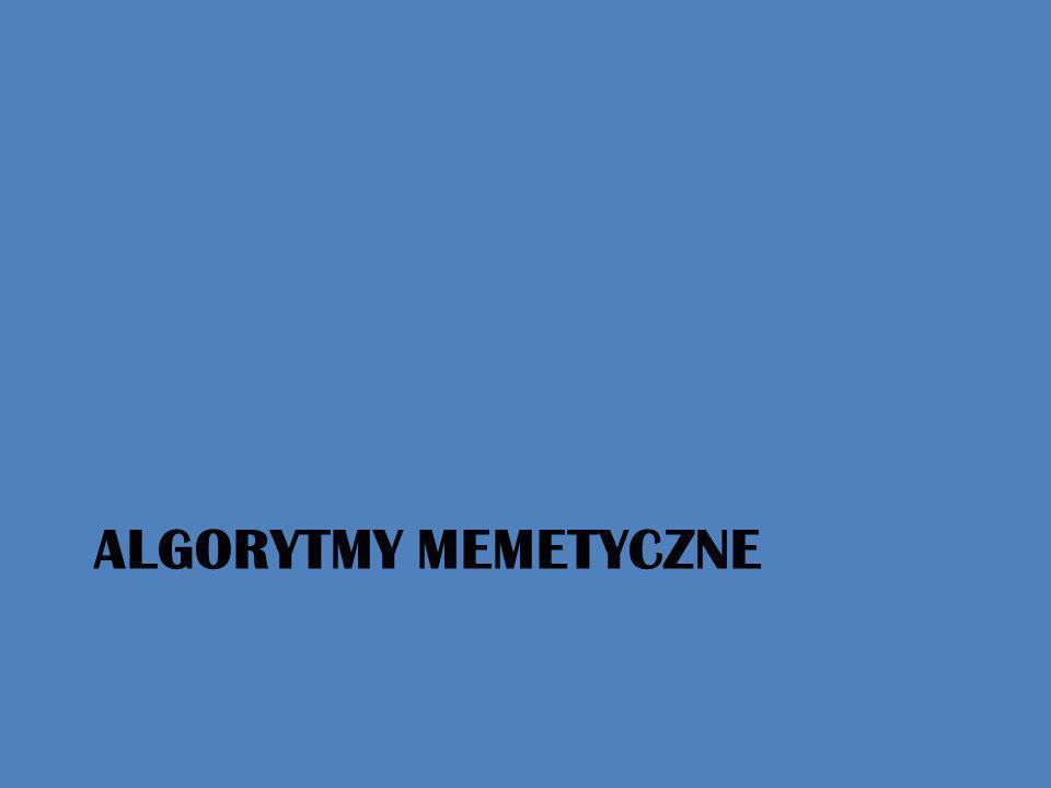 ALGORYTMy MEMETYCZNE