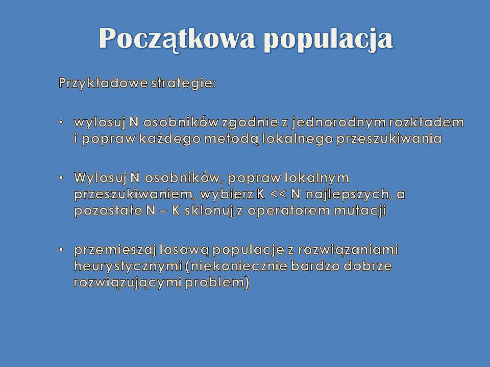 Początkowa populacja Przykładowe strategie: