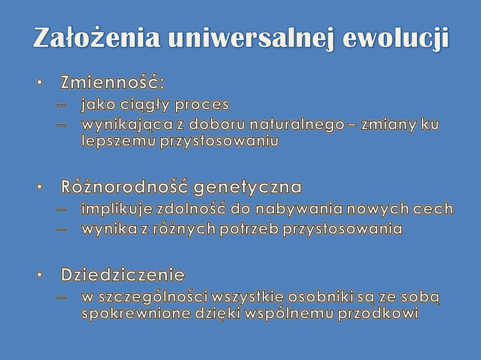 Założenia uniwersalnej ewolucji