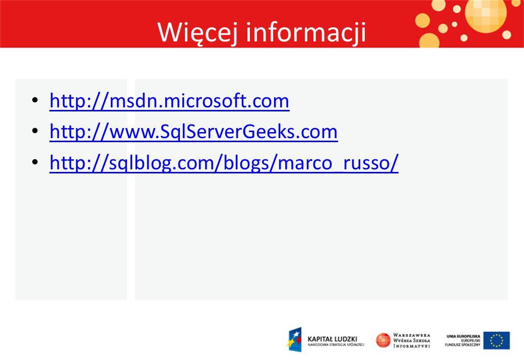 Więcej informacji http://msdn.microsoft.com