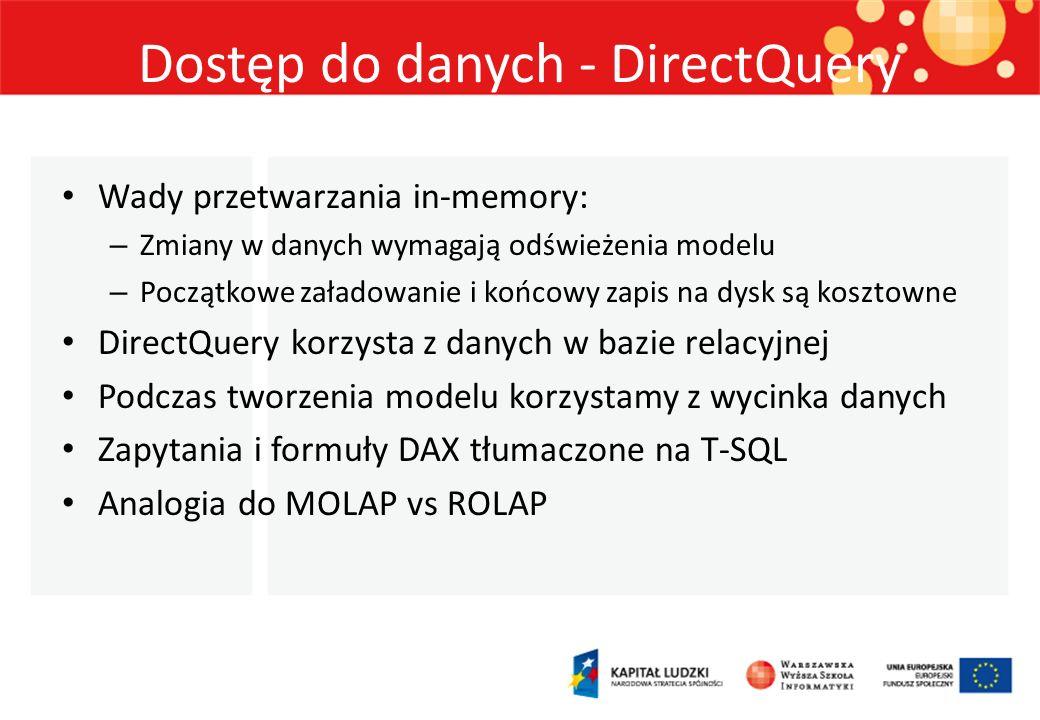 Dostęp do danych - DirectQuery