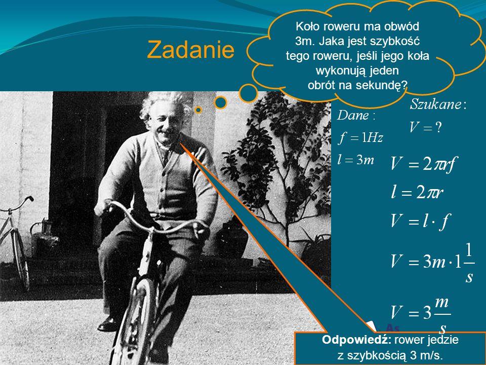 Odpowiedź: rower jedzie