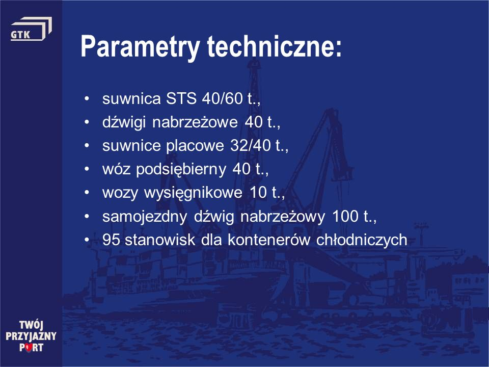 Parametry techniczne: