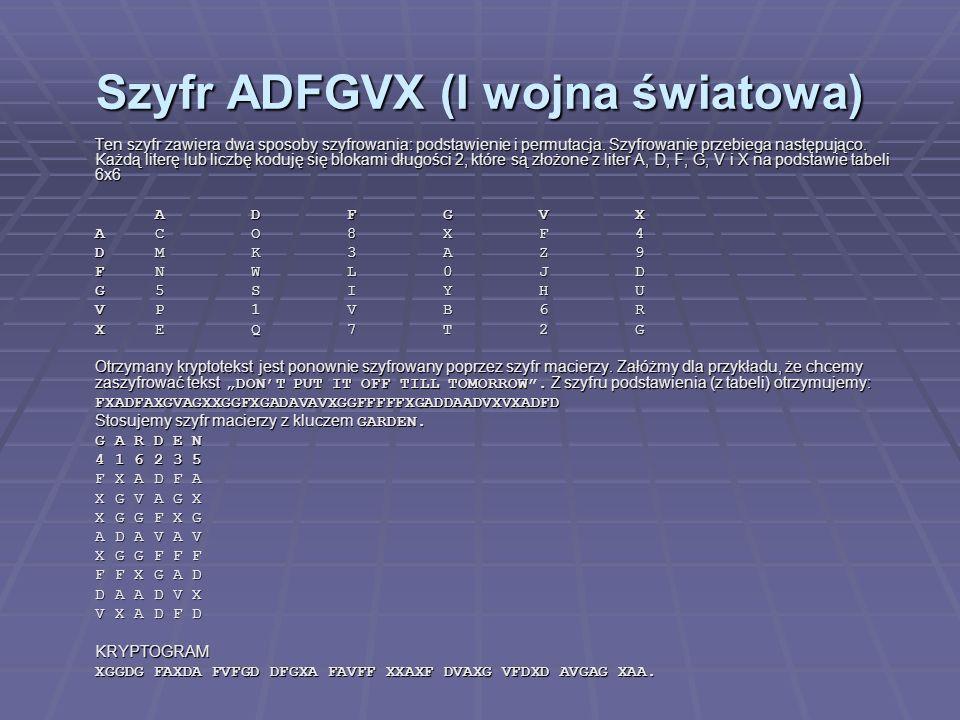 Szyfr ADFGVX (I wojna światowa)