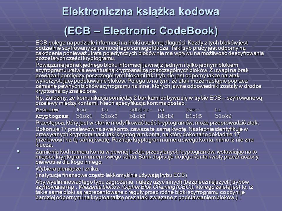 Elektroniczna książka kodowa (ECB – Electronic CodeBook)