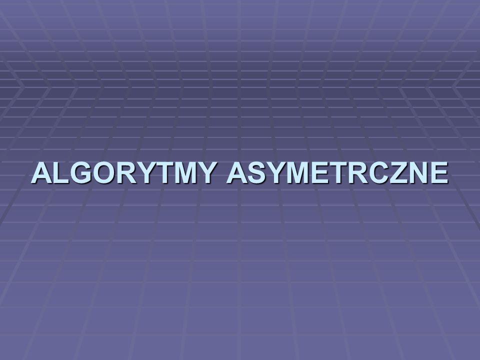 ALGORYTMY ASYMETRCZNE