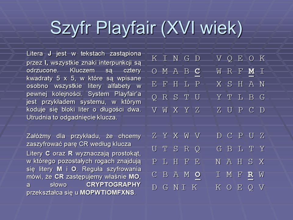 Szyfr Playfair (XVI wiek)